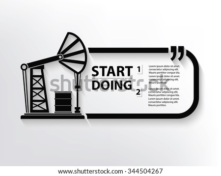 Oil industry Quotation Mark Speech Bubble,design