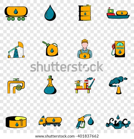 oil industry set icons oil