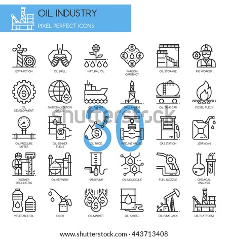 oil industry   thin line and