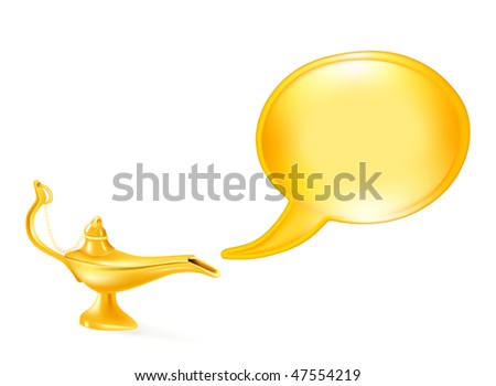 oil lamp vector. stock vector : Oil lamp and