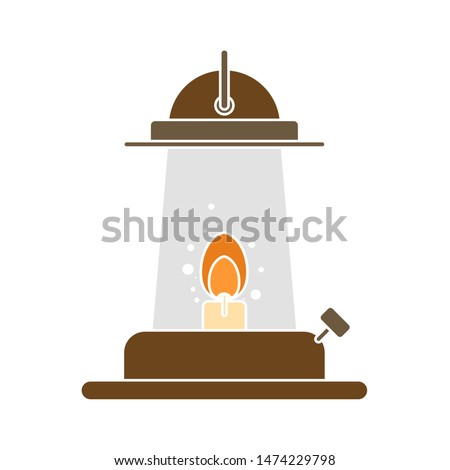 oil lamp icon. flat illustration of oil lamp vector icon. oil lamp sign symbol