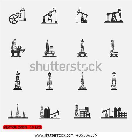Oil Offshore Platform vector Illustration