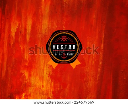 stock-vector-oil-painted-background-vector-illustration-abstract-backdrop-black-emblem-with-ribbon-and-rope