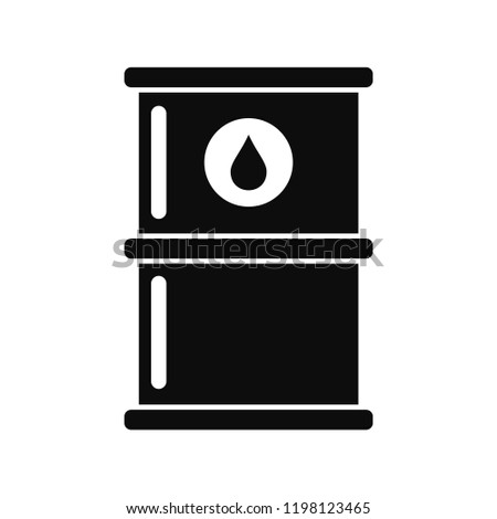 Oil petrol barrel icon. Simple illustration of oil petrol barrel vector icon for web design isolated on white background