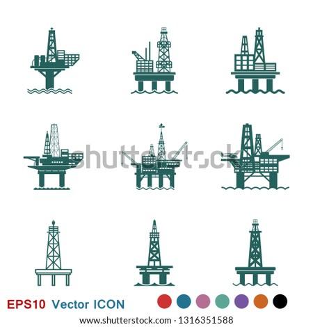 oil platform iconfuel
