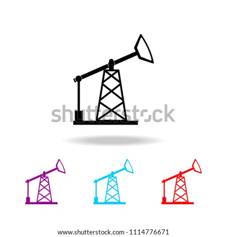 Oil pump icon. Elements of electricity in multi colored icons. Premium quality graphic design icon. Simple icon for websites, web design, mobile app, info graphics on white background