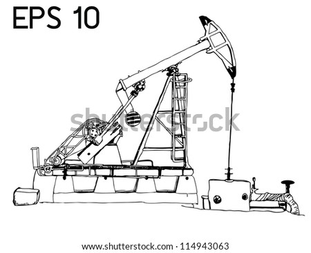oil pump with EPS 10 VECTOR