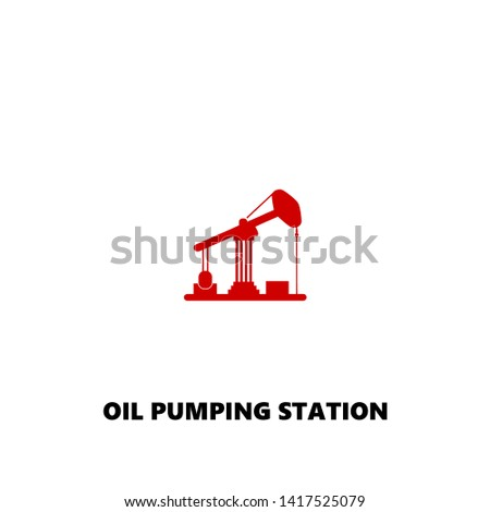 oil pumping station icon. oil pumping station vector design. sign design. red color