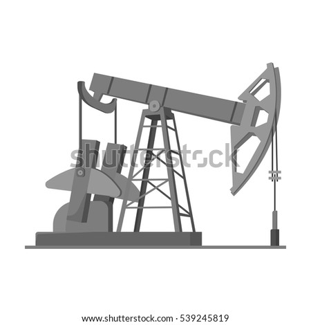 Isolated Illustration Of An Oil Rig Ez Canvas