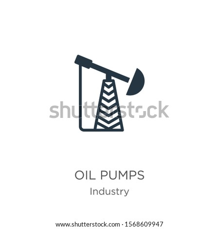 Oil pumps icon vector. Trendy flat oil pumps icon from industry collection isolated on white background. Vector illustration can be used for web and mobile graphic design, logo, eps10