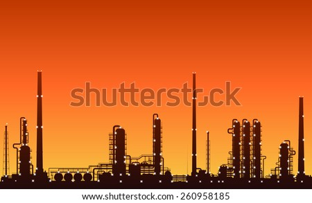 stock-vector-oil-refinery-or-chemical-pl