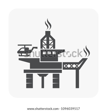 Oil rig icon on white background.