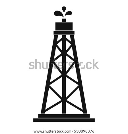 Oil rig icon. Simple illustration of oil rig vector icon for web