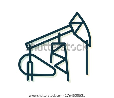 Oil Rig - Pumpjack - Stock Illustration as EPS 10 File