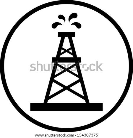 Oil Rig Vector Icon 154307375 Shutterstock