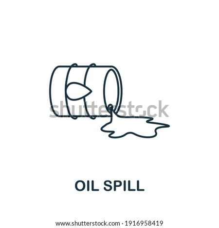 Oil Spill icon. Simple element from global warming collection. Creative Oil Spill icon for web design, templates, infographics and more Foto stock ©
