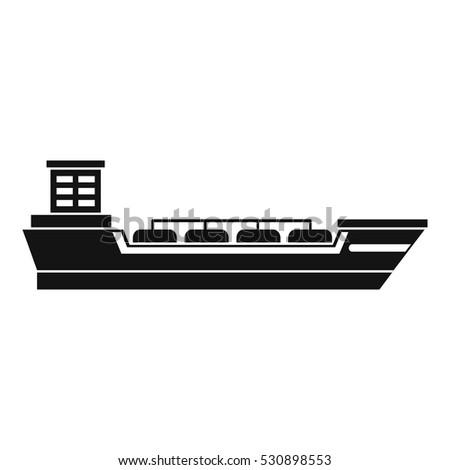 Oil tanker ship icon. Simple illustration of oil tanker ship vector icon for web