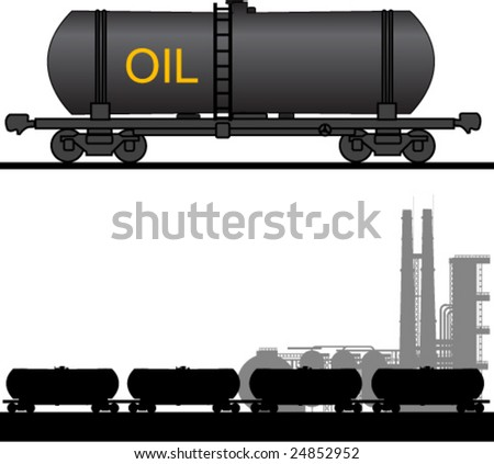 Oil time - stock vector