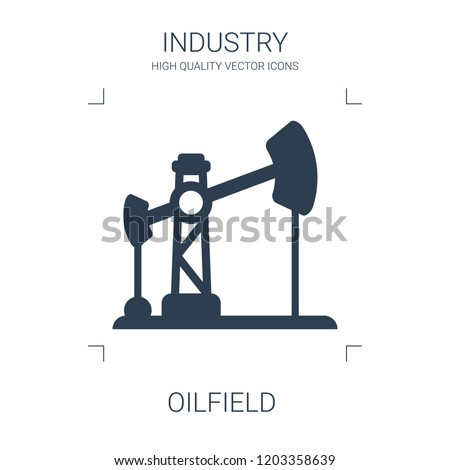 oilfield icon. high quality filled oilfield icon on white background. from industry collection flat trendy vector oilfield symbol. use for web and mobile
