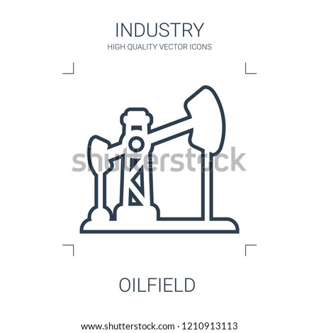 oilfield icon. high quality line oilfield icon on white background. from industry collection flat trendy vector oilfield symbol. use for web and mobile