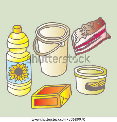 oils and fats isolated