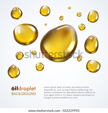 Oily droplet vector background