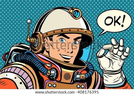 ok astronaut man okay gesture