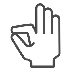 Ok gesture line icon. Goog hand gesture vector illustration isolated on white. Yes symbol outline style design, designed for web and app. Eps 10
