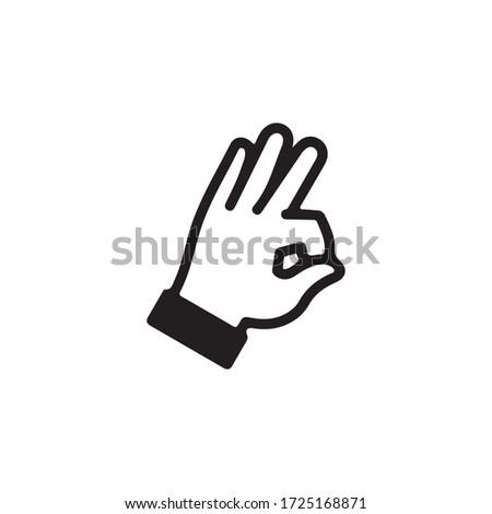 Ok Gestures, Gestures of Human Hand Icon In Trendy  Design Vector Eps 10 ストックフォト ©