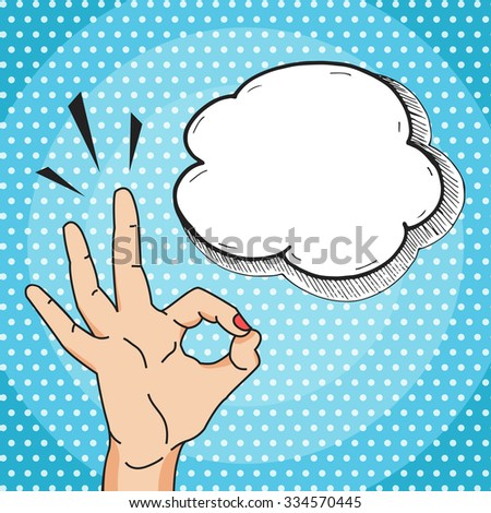 ok hand sign cartoon comics
