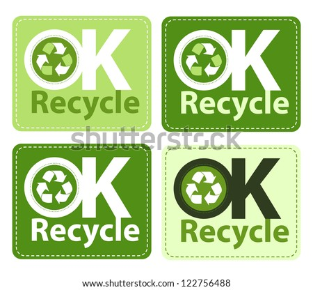 OK to Recycle stickers.