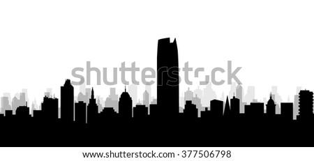 Oklahoma City Skyline - Vector