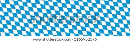 Oktoberfest abstract blue geometric pattern banner. Vector background