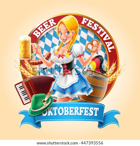 oktoberfest banner with sexy