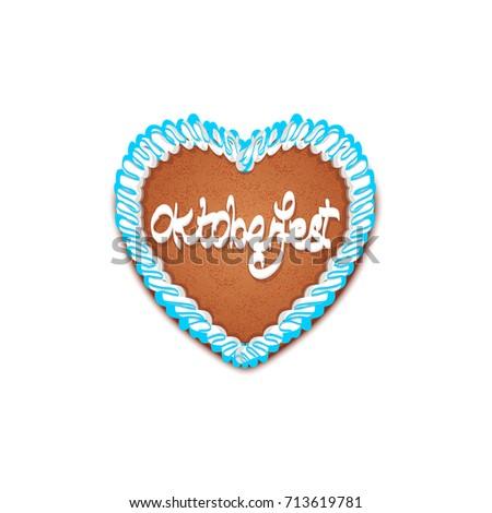 oktoberfest cake in heart shape