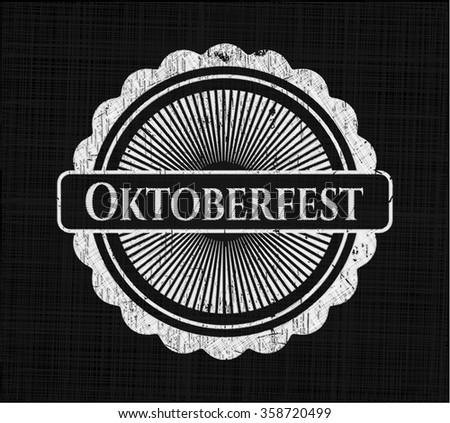 Oktoberfest chalk emblem