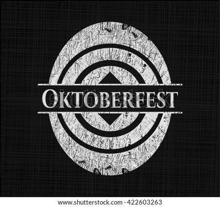 Oktoberfest chalkboard emblem on black board