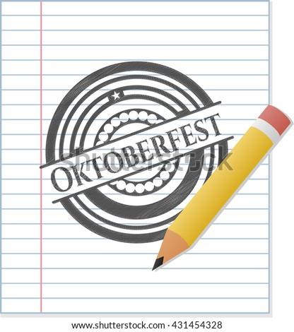Oktoberfest drawn with pencil strokes