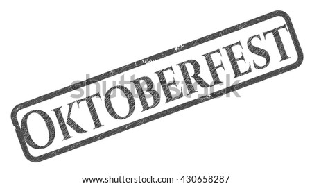 Oktoberfest emblem draw with pencil effect