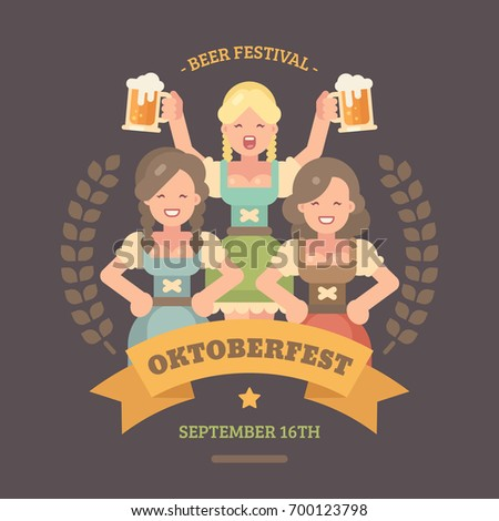 oktoberfest flat illustration