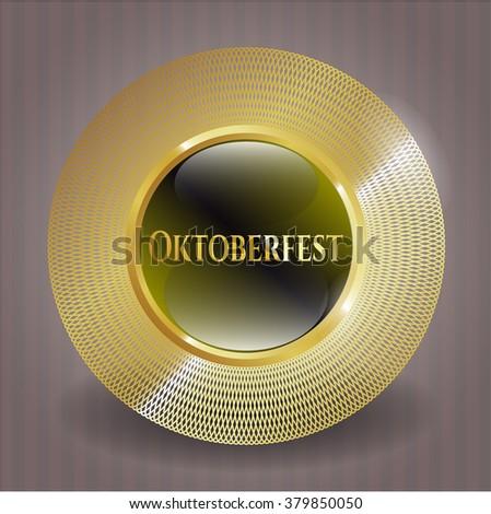 Oktoberfest gold emblem