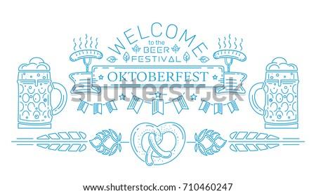 oktoberfest line logo design