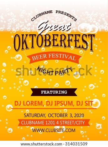 oktoberfest night party flyer