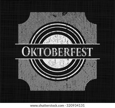 Oktoberfest on blackboard