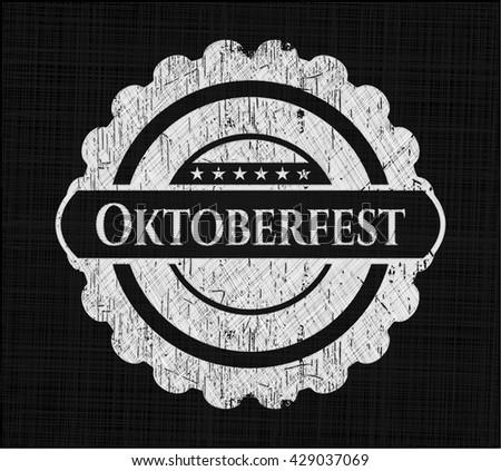 Oktoberfest on chalkboard
