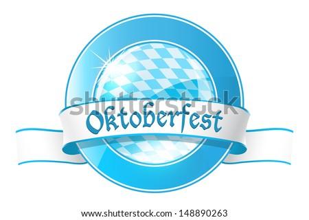 oktoberfest round banner with