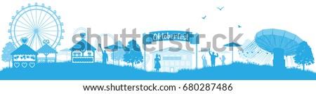 oktoberfest skyline silhouette