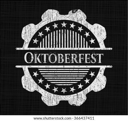 Oktoberfest written on a blackboard