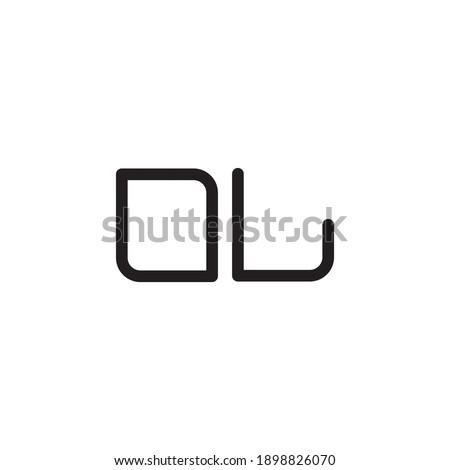 ol initial letter vector logo Foto stock ©