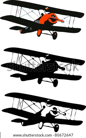 old airplane simple vector